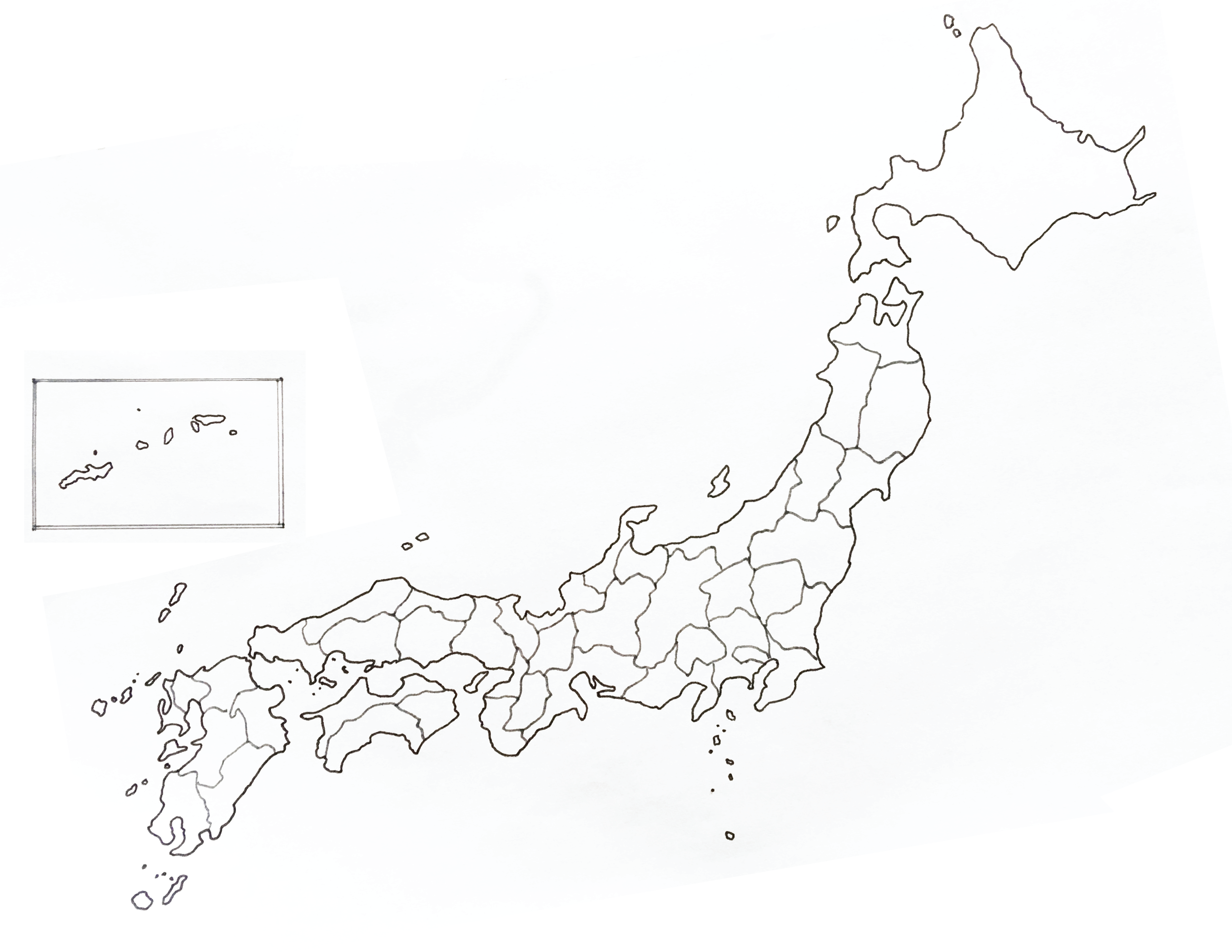 image relating to Printable Map of Japan identified as Bullet Magazine Printable: Map of Japan and Prefecture